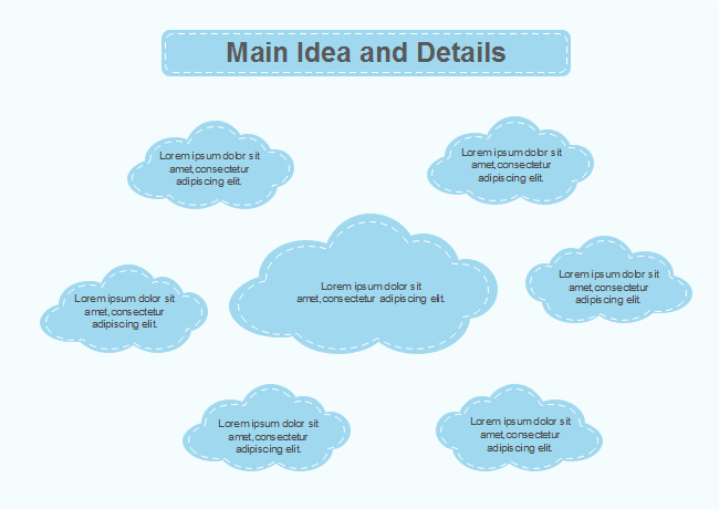 Free Cloud Main Idea And Details Chart Templates