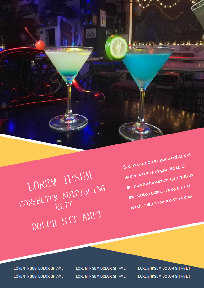 Club Cocktail Flyer