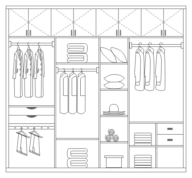 Elevation Plan Template : Coatroom design free templates