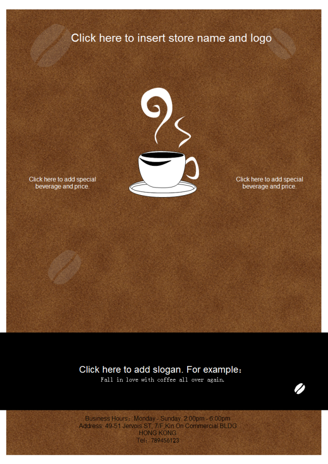 Template Coffee Shop Leaflet on Coffee Shop Design Floor Plan
