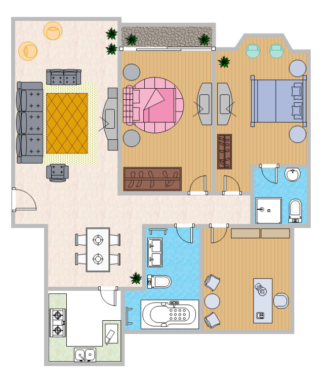 Color Home Plan