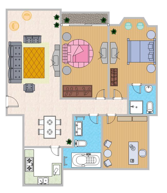 Color home plan free color home plan templates for Color floor plans