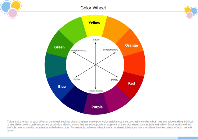 color wheel free color wheel templates rh edrawsoft com Tire Diagram Wheel Hub Diagram