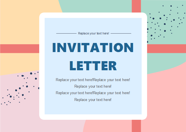 Colorful Blocks Invitation Card