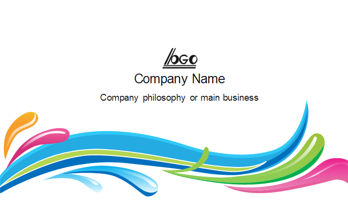Colorful Curve Business Card Back