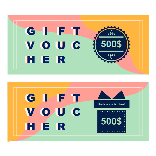 Colorful Holiday Gift Voucher