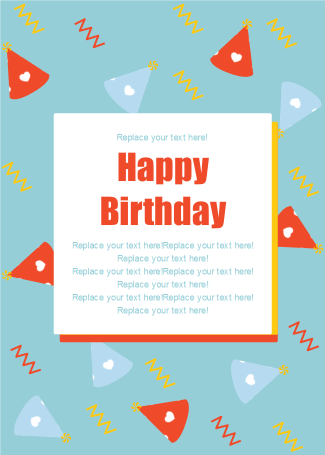 Colorful Wizard Hat Birthday Card