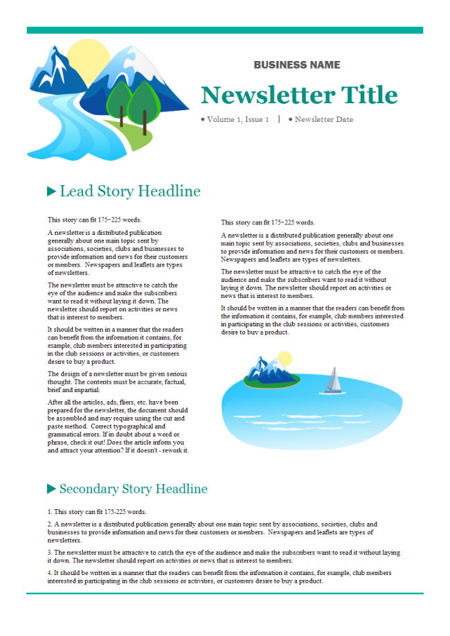 Company Newsletter Free Company Newsletter Templates