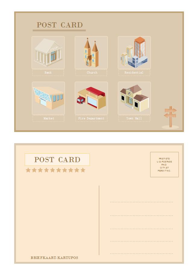 Exemple de carte postale