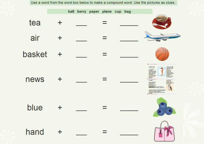 Compound Words Worksheet – Worksheet Templates for Word