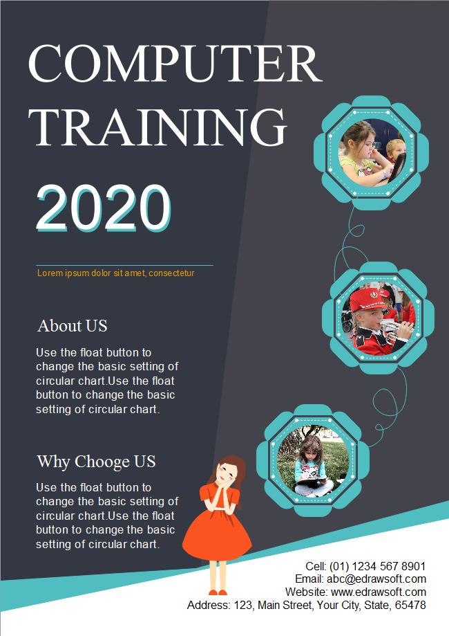 computer training school flyer