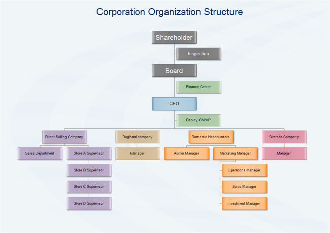 Corporation Administrative Organization Structure