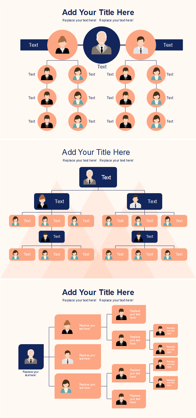 Creative Orange Org Chart Template
