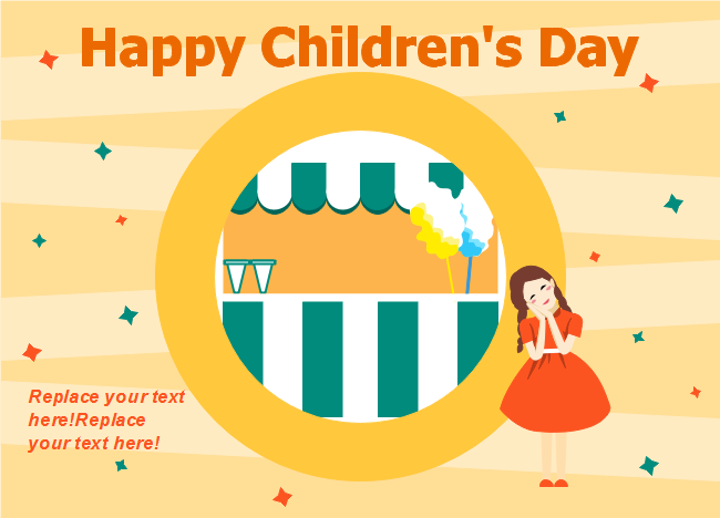Cute Girl Children's Day Card