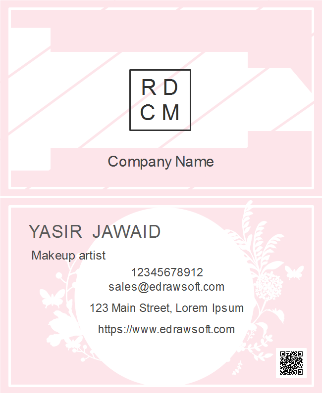 Free cute pink business card templates cute pink business card flashek Choice Image
