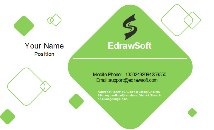 Diamond Shapes Business Card Front