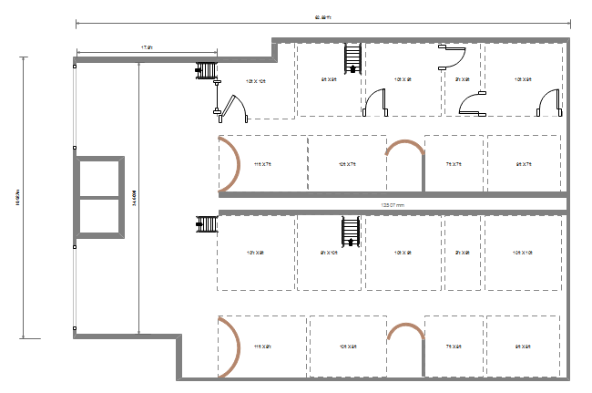 floor plan design with dimension