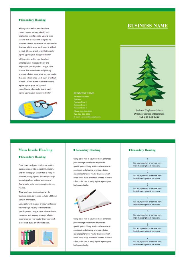 Education brochure design free download
