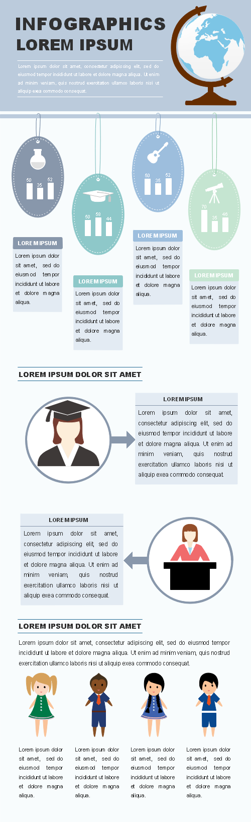 Education Report Infographic Template