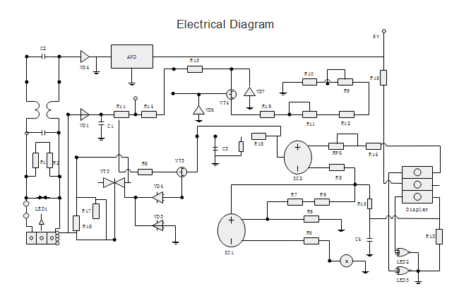 electrical diagram free electrical diagram templates rh edrawsoft com electrical schematic diagram sample electrical sample drawings for autocad