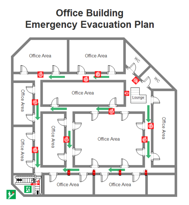 Emergency evacuation plan free emergency evacuation plan for Fire evacuation plan template for office