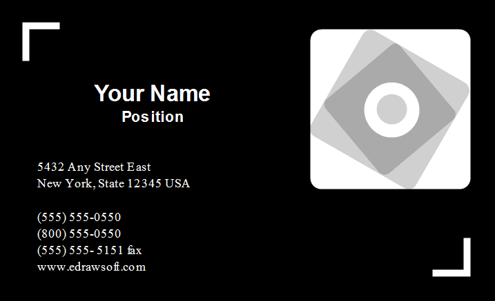 Industry Business Card Template