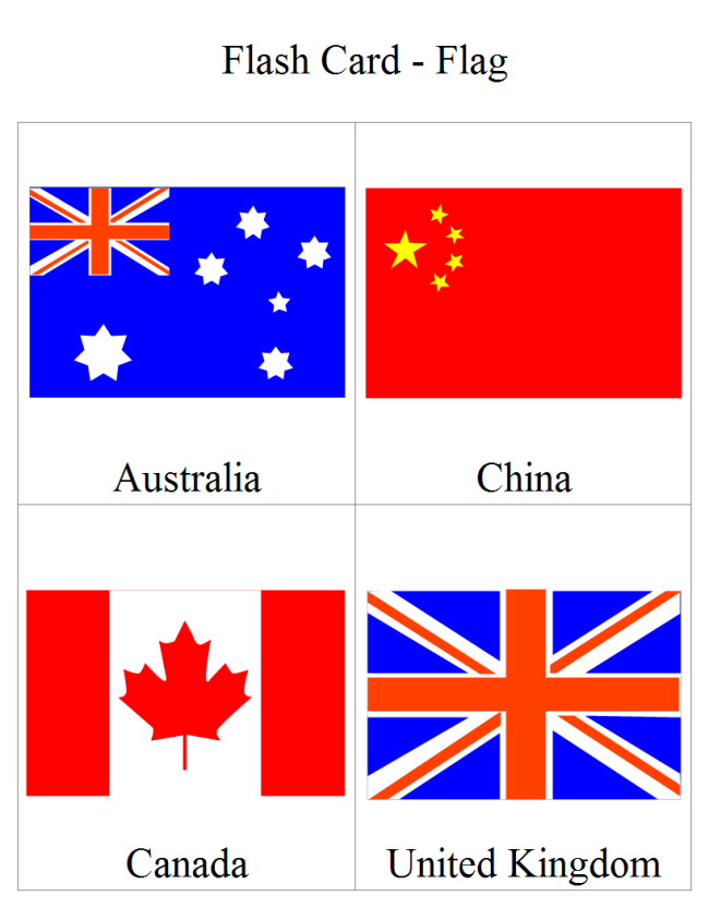 Flag Flash Card Free Flag Flash Card Templates