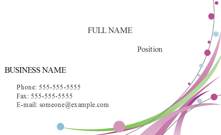 Floral Business Card Front
