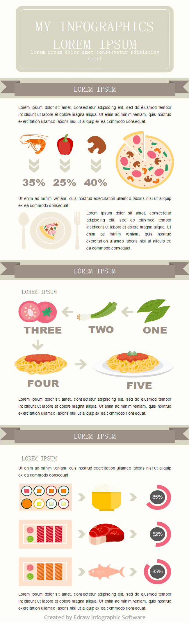 free vector food infographic templates. Black Bedroom Furniture Sets. Home Design Ideas