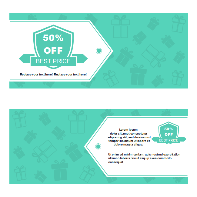 Fresh Green Background Gift Voucher
