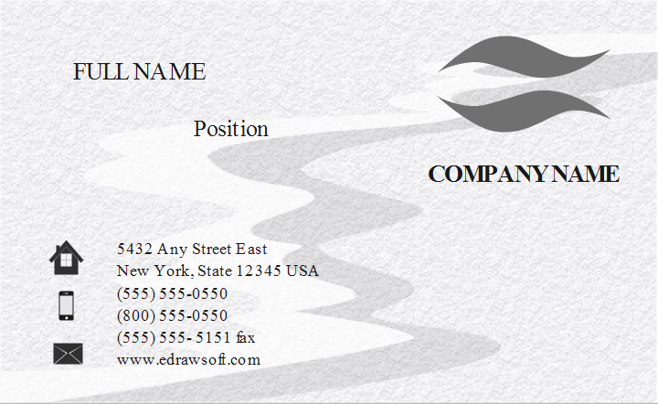 Frosted Effect Business Card Template