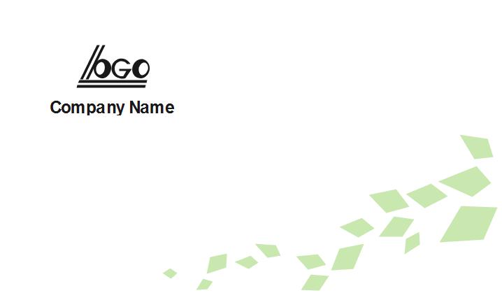 General Business Card Back