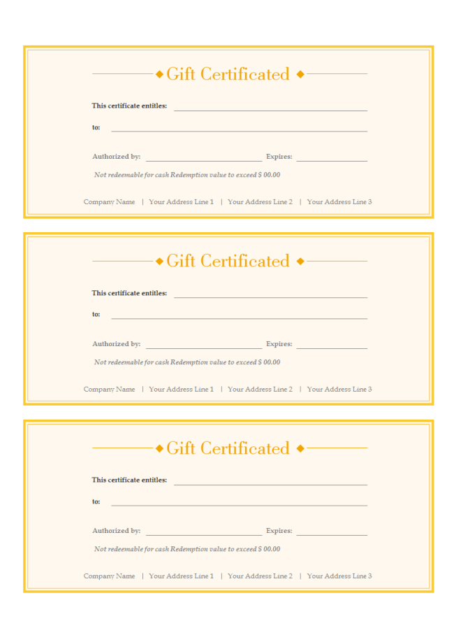 Gift Voucher – Template for a Voucher