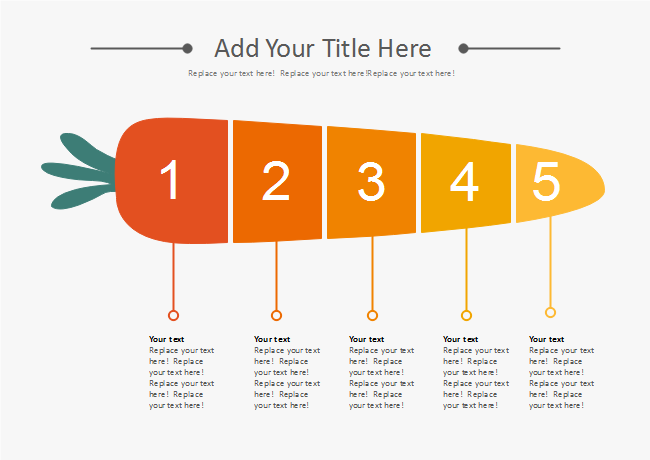 Gradient Carrot List Presentation