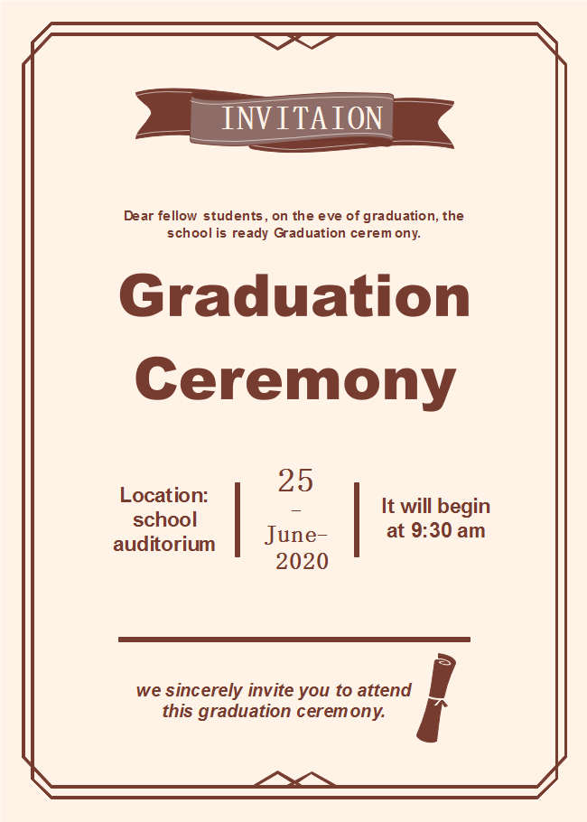 Graduation Ceremony Invitation
