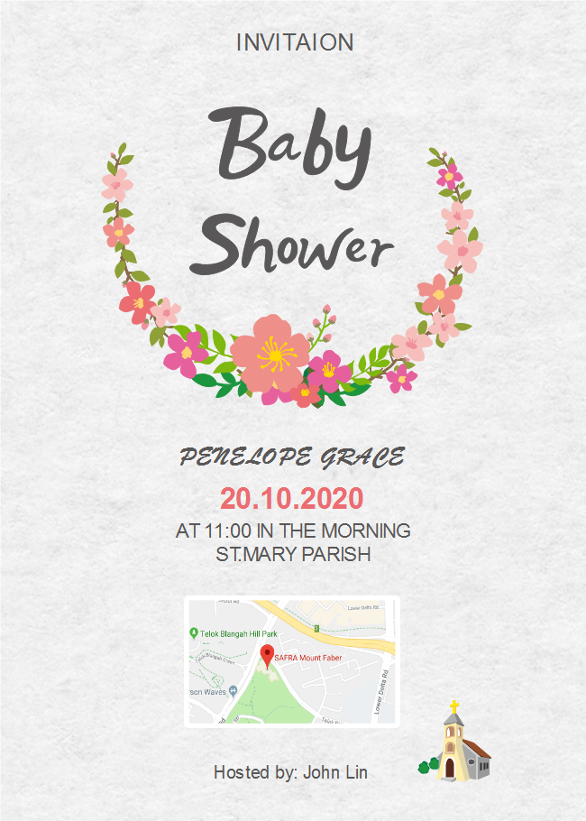 Gray Background Baby Shower Invitation Free Gray Background Baby
