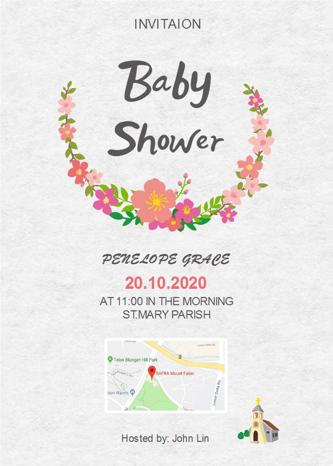 Gray Background Baby Shower Invitation Free Gray Background Baby
