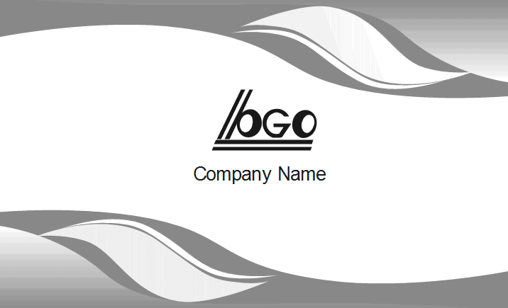 Gray Curve Business Card Back