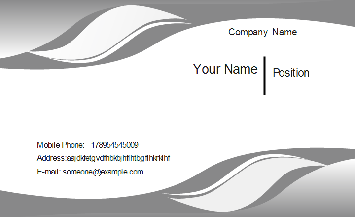 Gray curve business card template colourmoves