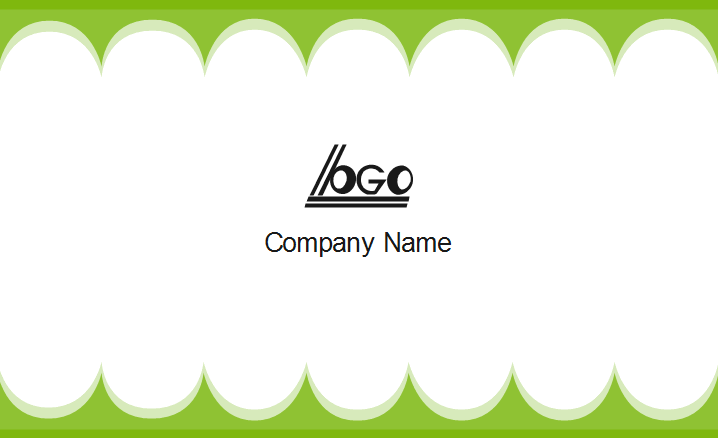 Green Edge Business Card Back