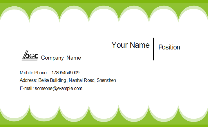 Green Edge Business Card Front