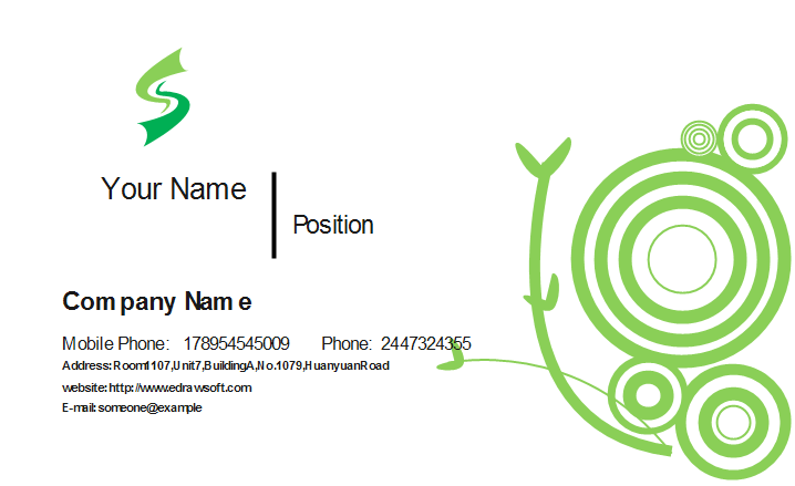 Green Vine Business Card Template