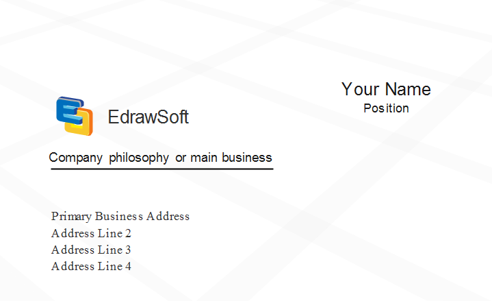Grid Business Card Template