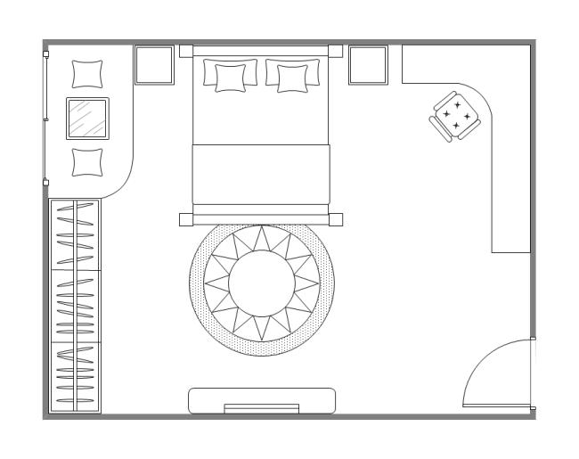 guest bedroom plan