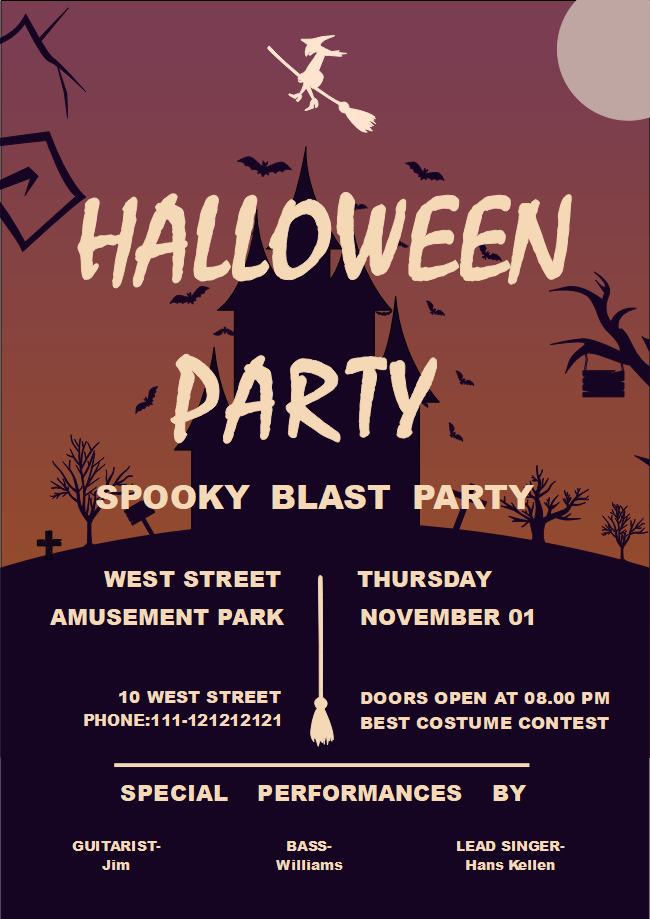 free halloween party flyer templates