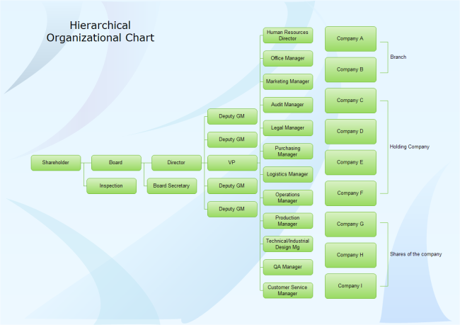 Free organizational charts templates and examples download hierarchical org chart ccuart Gallery