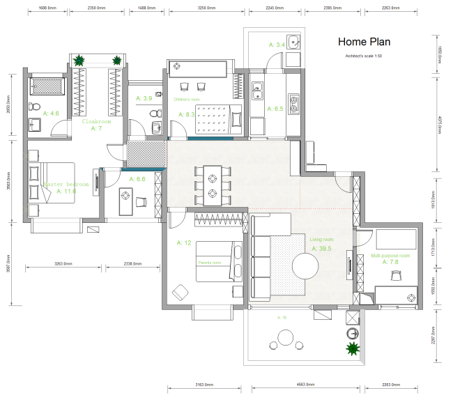 House Plan Drawing Free