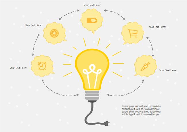 Icon Bulb Diagram | Free Icon Bulb Diagram Templates