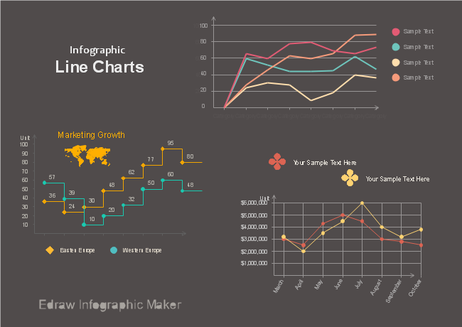 Infographic Line Charts