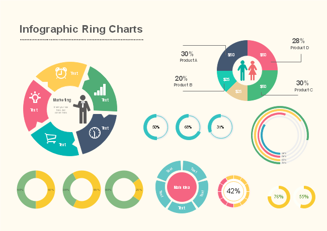 Infographic Ring Charts